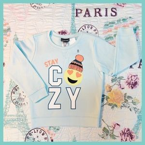 🎀 Joe Boxer 🎀 Stay Cozy Aqua Sweatshirt